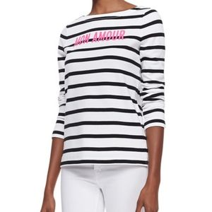 Kate Spade NY Mon Amour Striped Shirt